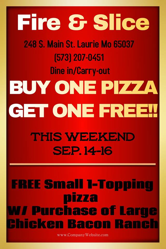 Fire & Slice Pizza Special Offer